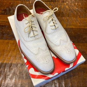 Grenson White Oxford Wingtip Shoes